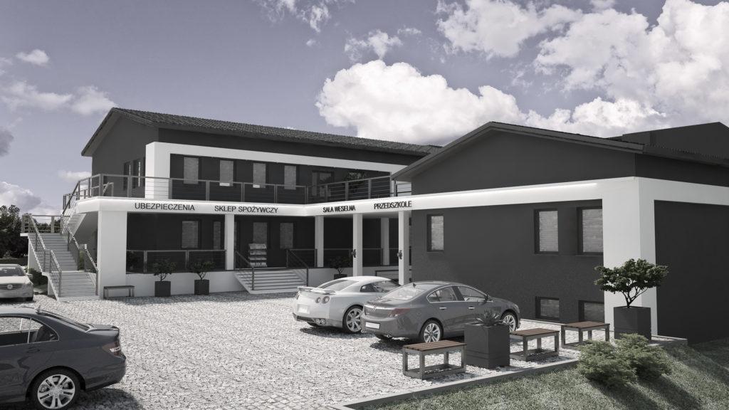 Przebudowa budynku usługowego